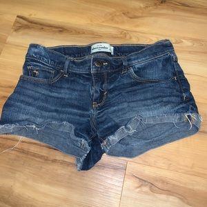 abercrombie kid jean shorts